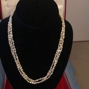 Lovely Seed Pearls Necklace With Stunning Clasp